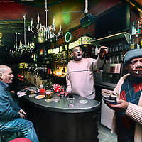 Nederland, amsterdam , 1 februari 2011..dinsdagmiddag 17.00u in de cotton club op de Nieuwmarkt..Legendary jazzpub The Cottonclub at the Nieuwmarkt, Amsterdam.