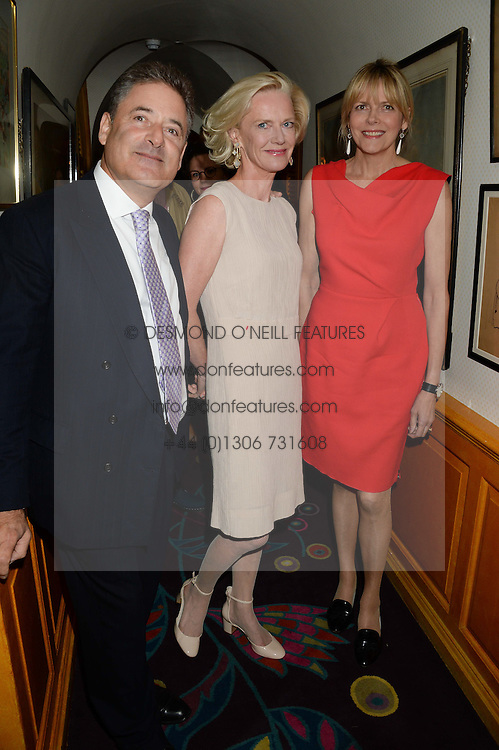 Left to right, TOM GOLDSTAUB, JANE PROCTER and the COUNTESS OF WOOLTON at an exhibition of the 50 best party pictures from Tatler from the past 50 years, held at Annabel's, Berkeley Square, London on 9th September 2013.