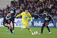 Jordan VERETOUT / Steed MALBRANQUE / Arnold MVUEMBA - 20.01.2015 - Nantes / Lyon  - Coupe de France 2014/2015<br />Photo : Vincent Michel / Icon Sport