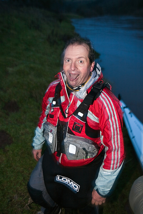 Richard Maddon at the end of the Kayak section during Training with AdidasTERREX on the Wenger Patagonia Expedition Race media day. 11/01/2011.Copyrighted work - Permission must be sought before use of this image..Alex Ekins +44 (0)7901 882994.