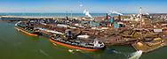 Nederland, Velsen-Noord, 20190401<br /> Tata Steel, staalfabriek, voormalig Hoogovens. Groot industriecomplex en een van de grootste vervuilers van Nederland, ook wat betreft CO2 uitstoot.<br />  <br /> Foto (c) Michiel Wijnbergh