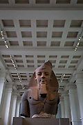The bust of ancient Egyptian Pharaoh Ramses II, in Room 4 of the British Museum, on 11th April 2018, in London, England.