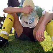 SV Huizen - Dovo 0-1, teleurstelling, speler