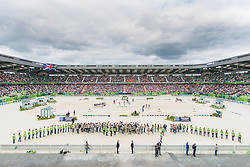 Charlotte Dujardin, (GBR), Langehanenberg Helen, (GER), Adelinde Cornelissen, (NED),  - Freestyle Grand Prix Dressage - Alltech FEI World Equestrian Games™ 2014 - Normandy, France.<br /> © Hippo Foto Team - Jon Stroud<br /> 25/06/14
