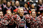 Coppell cheerleaders motivate their team in the Class 5A state championship match against New Braunfels at the Curtis Culwell Center in Garland, Texas, on November 17, 2012.  (Stan Olszewski/The Dallas Morning News)
