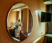 MILAN: few meters from MIilan Centra Station there is the 4 stars  Michelangelo Hotel, usually packed of tourists and business people, since two months has been transformed to host covid-19 positive patients, who has not a place where to spend their quarantine safely Sanitization of the room