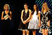 De grote finale van Holland's Next Top Model seizoen 4 tijdens een grote liveshow in de Lichtfabriek in Haarlem  Op de Foto :  Ananda Lândertine is de winnares van Holland's Next Top Model. Ze laat in een spannende finale Jennifer Melchers, Yvette Broch en Patricia van der Vliet achter zich.