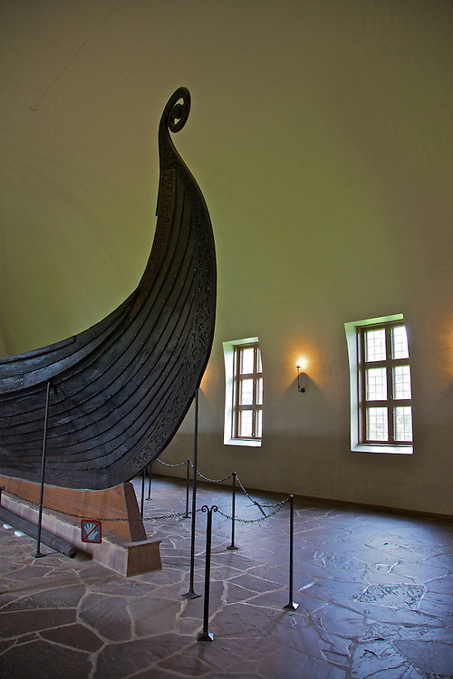 The Viking Ship Museum in Bygdøy (Oslo) displays the large Viking ships Oseberg (seen here), Gokstad and Tune. These three ships are the best preserved Viking ships known, found in royal burial mounds in the Oslo fjord.