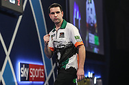 William O'Connor wins leg and celebrates during the World Darts Championships 2018 at Alexandra Palace, London, United Kingdom on 19 December 2018.