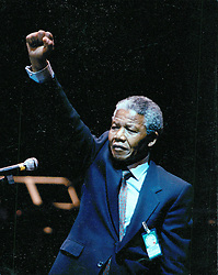NELSON ROLIHLAHLA MANDELA (July 18, 1918 - December 5, 2013) world renowned civil rights activist and world leader dies at 95. Mandela emerged from prison to become the first black President of South Africa in 1994. As a symbol of peacemaking, he won the 1993 Nobel Peace Prize. Joined his countries anti-apartheid movement in his 20s and then the ANC (African National Congress) in 1942. For next 20 years, he directed a campaign of peaceful, non-violent defiance against the South African government and its racist policies and for his efforts was incarcerated for 27 years. PICTURED: Mar 16, 1990 - Stockholm, Sweden - NELSON MANDELA addresses the Swedish Parliament. (Credit Image: © Aftonbladet/IBL/ZUMAPRESS.com)