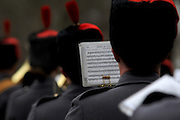 The Royal Artillary band played a number of regimental marches to the assembled crowds
