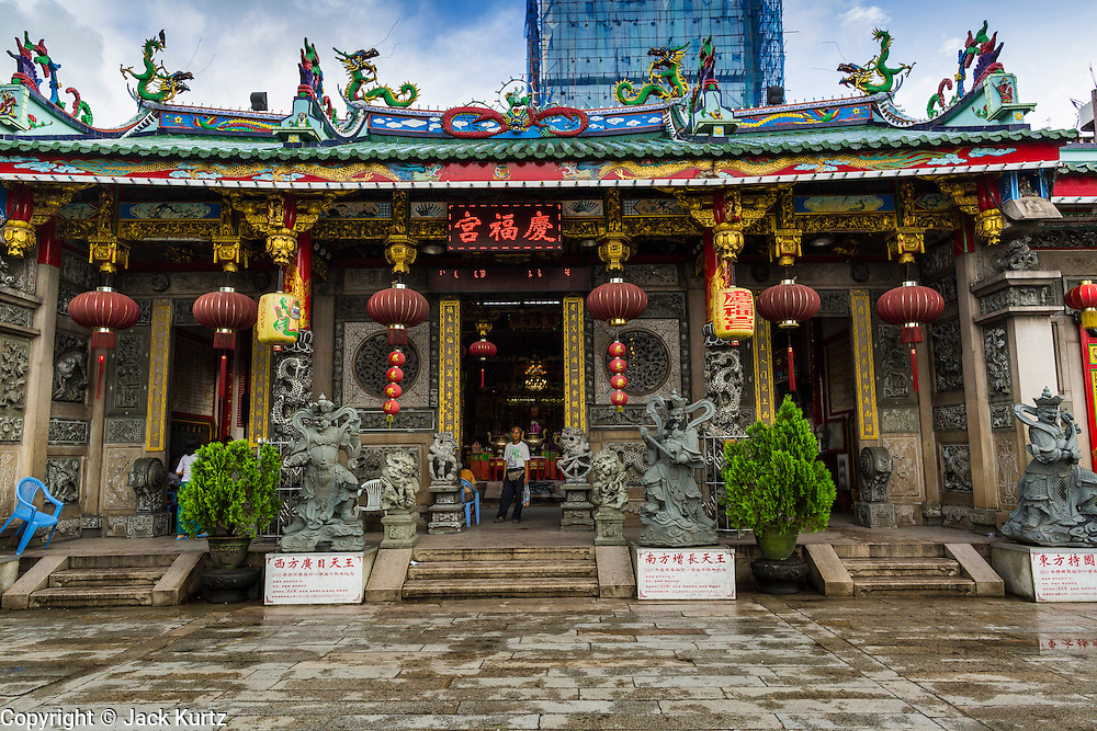 18 JUNE 2013 - YANGON, MYANMAR:  The Kheng Hock Koeng temple in Yangon. It is the largest and busiest Chinese Buddhist/Taoist temple in Yangon.     PHOTO BY JACK KURTZ