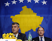 Thaci and Faith encourage Municipality of Gjilan to begin the process of decentralization<br /> Gjilan, Kosovo<br /> Friday, November 07, 2008<br /> The leaders of the Government of Kosovo and the International Civilian Office said today in Gjilan that the decentralization will be easier and more successful if all communities and political parties are involved in this process.<br /> In a public conversation with Gjilan citizenís they do understand that than more than 30,000 citizens of Gjilan are against the decentralization process, regarding to a signed petition organized by the local political parties, leaded by Kosovo Self-Determination movement in 2007.<br /> <br /> Vedat Xhymshiti / ZUMA Press