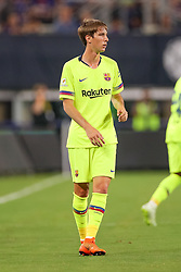 July 31, 2018 - Arlington, TX, U.S. - ARLINGTON, TX - JULY 31: FC Barcelona defender Juan Miranda (18) during the International Champions Cup between FC Barcelona and AS Roma on July 31, 2018 at AT&T Stadium in Arlington, TX.  (Photo by Andrew Dieb/Icon Sportswire) (Credit Image: © Andrew Dieb/Icon SMI via ZUMA Press)