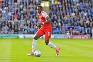 Fleetwood Town Defender, Amari'i Bell (3) during the EFL Sky Bet League 1 match between Portsmouth and Fleetwood Town at Fratton Park, Portsmouth, England on 16 September 2017. Photo by Adam Rivers.