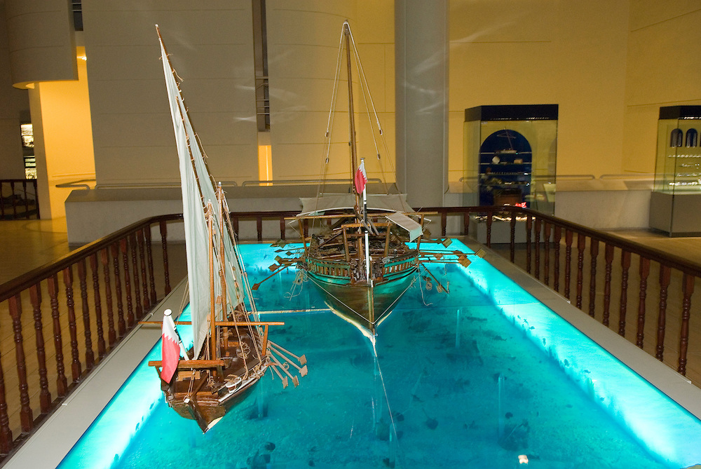 Bahrain, Manama city, National Museum Segelboote,