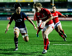 Lisa Neumann of Wales Women scores a try<br /> <br /> Photographer Simon King/Replay Images<br /> <br /> Friendly - Wales Women v Hong Kong Women - Friday  16th November 2018 - Cardiff Arms Park - Cardiff<br /> <br /> World Copyright © Replay Images . All rights reserved. info@replayimages.co.uk - http://replayimages.co.uk