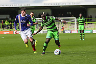 Forest Green Rovers Drissa Traoré(4) on the ball during the EFL Sky Bet League 2 match between Forest Green Rovers and Exeter City at the New Lawn, Forest Green, United Kingdom on 9 September 2017. Photo by Shane Healey.
