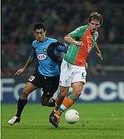 v.l. Giampiero Pinzi, Frank Baumann Bremen<br /> Champions League SV Werder Bremen - Udinese Calcio<br /> Norway only