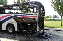 School bus fire in Culross, Fife<br /> <br /> (c) David Wardle | Edinburgh Elite media