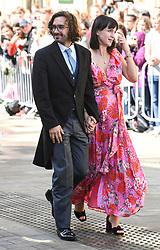 Joe Wicks and wife Rosie arriving at the wedding of Ellie Goulding and Casper Jopling, York Minster. Photo credit should read: Doug Peters/EMPICS