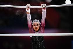 October 28, 2018 - Doha, Quatar - Sofia Bjoernholdt of Denmark   during  Uneven Bars qualification at the Aspire Dome in Doha, Qatar, Artistic FIG Gymnastics World Championships on 28 of October 2018. (Credit Image: © Ulrik Pedersen/NurPhoto via ZUMA Press)