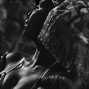 Travel portrait of Maracatu Dancer during Carnaval in Olinda, Brazil