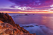 Sunset at Pinnacle Cove, Point Lobos State Reserve, Carmel, California