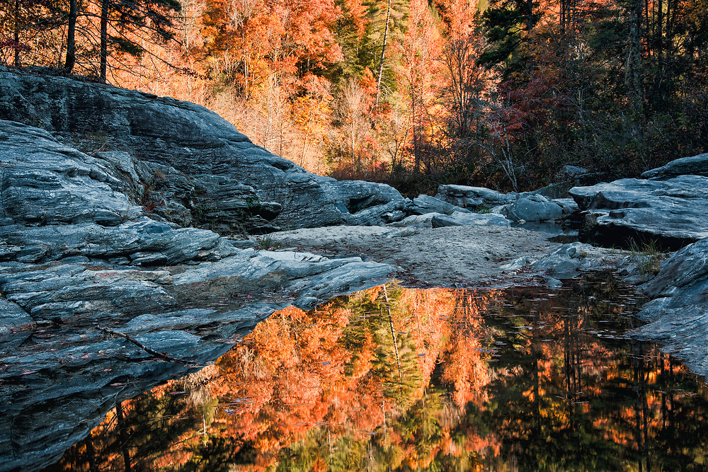 Autumn reflection at Woodall Shoals