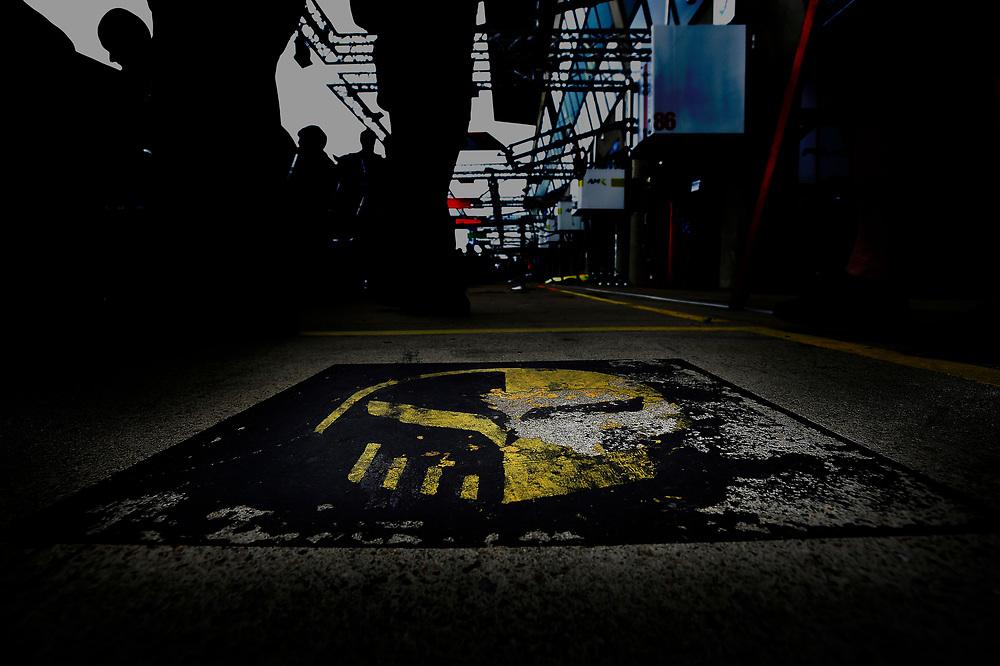 #63 Corvette Racing Chevrolet Corvette C7.R: Jan Magnussen, Antonio Garcia, Mike Rockenfeller, Jake, Tuesday 12 June 2018, 24 Hours of Le Mans, Verizon IndyCar Series, Circuit de la Sarthe  FR, World Copyright: Scott R LePage, LAT Images<br /> Tuesday 12 June 2018<br /> 24 Hours of Le Mans<br /> 2018 24 Hours of Le Mans<br /> Circuit de la Sarthe  FR<br /> World Copyright: Scott R LePage