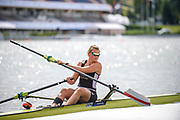 Poznan,  POLAND,  Thursday, 16/06/2016. DEN W1X, Fie Udby ERICHSEN,  Boating, pushing of the boating pontoon,FISA World Cup III, Malta Lake.[Mandatory Credit; Peter SPURRIER/Intersport-images]