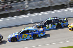 August 12, 2018 - Brooklyn, Michigan, United States of America - Ricky Stenhouse, Jr (17) and Erik Jones (20) battle for position during the Consumers Energy 400 at Michigan International Speedway in Brooklyn, Michigan. (Credit Image: © Chris Owens Asp Inc/ASP via ZUMA Wire)
