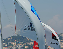 Spinakers at full stretch. Photo: Chris Davies/WMRT