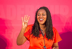 © Licensed to London News Pictures. 01/02/2020. Bristol, UK. DAWN BUTLER at the Labour Party Deputy Leadership Hustings, at Ashton Gate Stadium. Deputy Leadership Candidates: Dr Rosena Allin-Khan, Dawn Butler, Angela Rayner, Richard Burgon, Ian Murray. Photo credit: Simon Chapman/LNP.