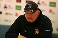 Bernard Jackman, the Dragons rugby coach. Guinness Pro14 rugby match, Cardiff Blues v Dragons at the Cardiff Arms Park in Cardiff, South Wales on Friday 6th October 2017.<br /> pic by Andrew Orchard, Andrew Orchard sports photography.