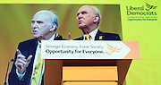 © Licensed to London News Pictures. 14/03/2015. Liverpool, UK. Vince Cable.  The Liberal Democrat Spring Conference in Liverpool 14th March 2015. Photo credit : Stephen Simpson/LNP