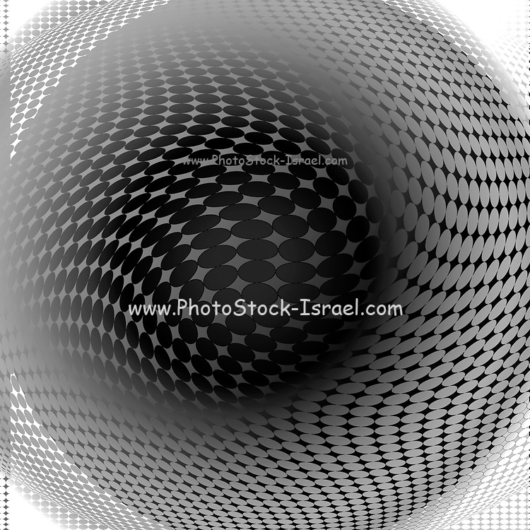 Computer generated geometric Op Art (Optical Art) image