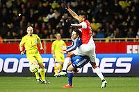 Yassine BENZIA / Wallace - 01.02.2015 - Monaco / Lyon - 23eme journee de Ligue 1 -<br />Photo : Eric Gaillard / Icon Sport