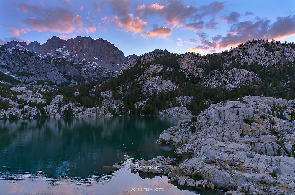 Second Lake in the Sierra Nevada