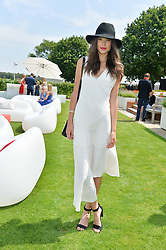 SARAH ANN MACKLIN at the Audi International Polo at Guards Polo Club, Windsor Great Park, Egham, Surrey on 26th July 2014.