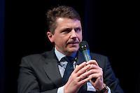 26 FEB 2009, BERLIN/GERMANY:<br /> Stephan Sturm, CFO Fresenius SE, Podiumsdiskussion, Preisverleihung des Best of European Business Awards, Franzoesische Botschaft<br /> IMAGE: 20090226-02-031