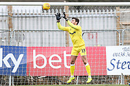 Forest Green Rovers goalkeeper James Montgomery during the EFL Sky Bet League 2 match between Stevenage and Forest Green Rovers at the Lamex Stadium, Stevenage, England on 26 January 2019.