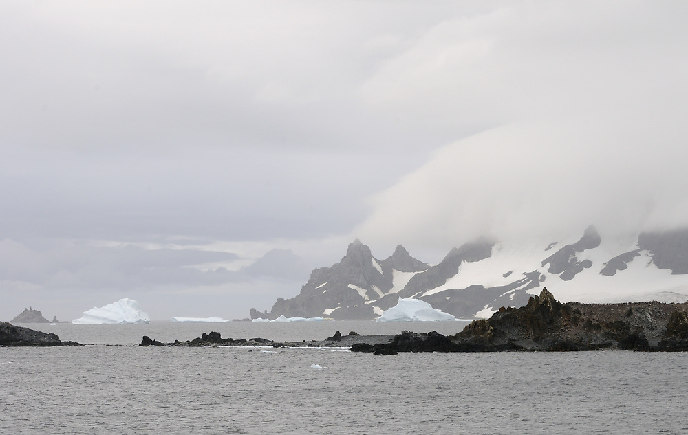 Livingstone Island from  Half Moon Island.   Half Moon Island,  South Shetland Islands, Antarctica.   03Mar16