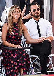 Jennifer Aniston and husband Justin Theroux attend the ceremony honoring Jason Bateman with Star On The Hollywood Walk Of Fame on July 26, 2017 in Hollywood, California. 26 Jul 2017 Pictured: Jennifer Aniston, Justin Theroux. Photo credit: MEGA TheMegaAgency.com +1 888 505 6342