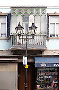 Architectural details in Main Street, Gibraltar, British terroritory in southern Europe