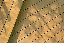 Shadows on decking