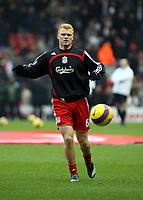 Photo: Mark Stephenson/Sportsbeat Images.<br /> Liverpool v Manchester United. The FA Barclays Premiership. 16/12/2007.Liverpool's John Arne Riise