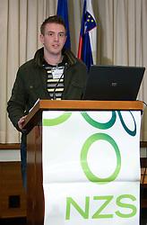 Matjaz Krajnik, PR of NZS at Management conference of Slovenian Football Federation, on March 10, 2009, in Hotel Kokra, Brdo pri Kranju, Slovenia. (Photo by Vid Ponikvar / Sportida)