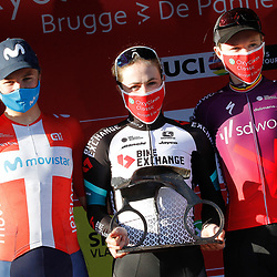 25-03-2021: Wielrennen: Classic Brugge - De Panne Women: De Panne<br /> Grace Brown (Team BikeExchange) has won the women's Classic Brugge-De Panne. The Australian attacked out of a 12-rider lead group that formed in a crosswind section and held off the chase of favourite sprinters on the last ten kilometres to the finish.