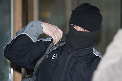 © Licensed to London News Pictures . 23/02/2015 Manchester , UK . PC KEVIN DWYER (39) , of Greater Manchester Police's North Manchester Division , leaving Manchester Crown Court . Dwyer has today (23rd February 2015) been sentenced for two counts of voyeurism and ten counts of outraging public decency that took place whilst he was serving as a police officer . VIDEO AVAILABLE - SEE https://www.youtube.com/watch?v=g5KEh4WM0gw  Photo credit : Joel Goodman/LNP